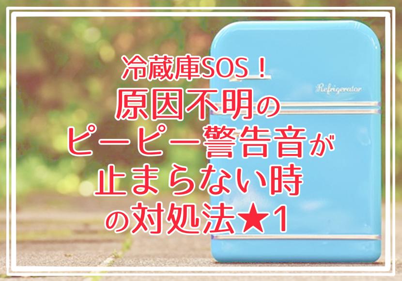 冷蔵庫SOS!冷蔵庫のピーピーが止まらない★まさかの原因を発見!