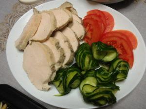 レコルト ポットデュオフェットのレシピ、鶏ハム・簡単でしっとり♪