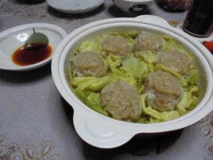 レコルト ポットデュオフェットのレシピ、餃子とシュウマイを順番に調理